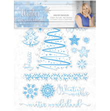 Sara Signature Collection Winter Wonderland A6 Clear Acrylic Stamp - Snow Season