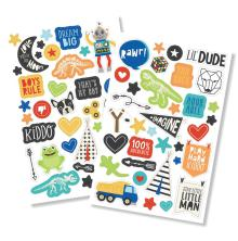 Simple Stories Puffy Stickers 4X6 2/Pkg - Lil Dude
