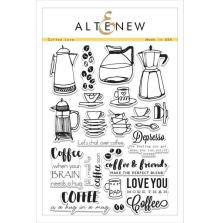 Altenew Clear Stamps 6X8 - Coffee Love