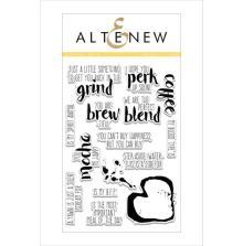 Altenew Clear Stamps 4X6 - Coffee Talk
