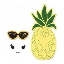 Sizzix Framelits Die Set 2PK w/Stamps - Sunny Pineapple
