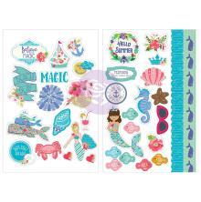 Prima Julie Nutting Cardstock Stickers 5X7 2/Pkg - Mermaid Kisses