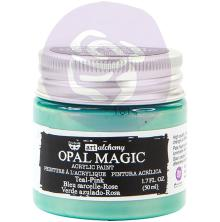 Prima Finnabair Art Alchemy Acrylic Paint 50ml - Opal Magic Teal-Pink