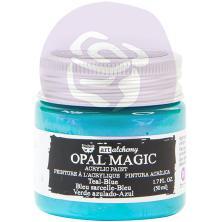 Prima Finnabair Art Alchemy Acrylic Paint 50ml - Opal Magic Teal-Blue
