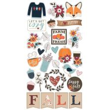 Simple Stories Chipboard Stickers 6X12 - Forever Fall