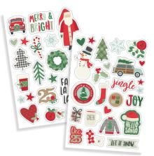 Simple Stories Puffy Stickers 4X6 2/Pkg - Merry & Bright