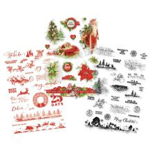 Simple Stories Clear Stickers 4X6 3/Pkg - Simple Vintage Christmas