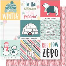 Simple Stories Freezin Season Double-Sided Cardstock 12X12 - 4X4 Elements