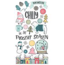 Simple Stories Chipboard Stickers 6X12 - Freezin Season