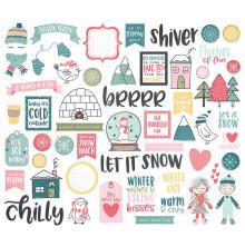 Simple Stories Bits & Pieces Die-Cuts 54/Pkg - Freezin Season