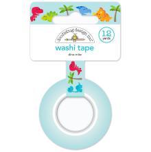 Doodlebug Washi Tape 15mmx12yd - Dino-Mite