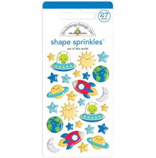 Doodlebug Sprinkles Adhesive Glossy Enamel Shapes 27/Pkg - Out Of This World