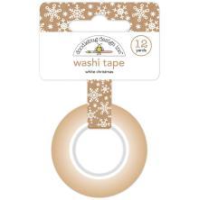 Doodlebug Washi Tape 15mmX12yd - White Christmas