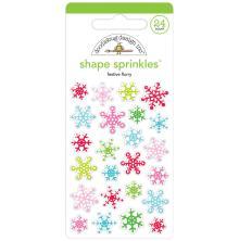 Doodlebug Sprinkles Adhesive Glossy Enamel Shapes 24/Pkg - Festive Flurry