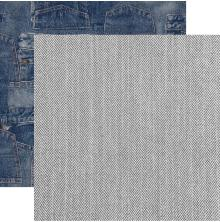 Kaisercraft Mountain Air Double-Sided Cardstock 12X12 - Blue Jeans