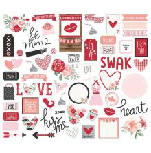 Simple Stories Bits & Pieces Die-Cuts 66/Pkg - Kissing Booth