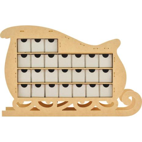 Kaisercraft Beyond The Page MDF Sleigh Advent Calendar