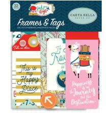 Carta Bella Pack Your Bags Ephemera Cardstock Die-Cuts 33/Pkg - Frames & Tags