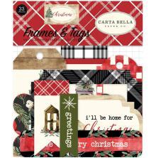 Carta Bella Christmas Ephemera Cardstock Die-Cuts 33/Pkg - Frames & Tags