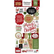Echo Park Celebrate Christmas Chipboard 6X13 - Phrases