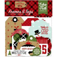Echo Park Celebrate Christmas Cardstock Die-Cuts 33/Pkg - Frames & Tags