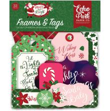 Echo Park Merry & Bright Cardstock Die-Cuts 33/Pkg - Frames & Tags