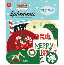 Carta Bella Santas Workshop Ephemera Cardstock Die-Cuts 33/Pkg - Icons