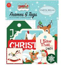 Carta Bella Santas Workshop Ephemera Cardstock Die-Cuts 33/Pkg - Frames & Tags