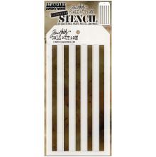 Tim Holtz Layered Stencil 4.125X8.5 - Shifter Stripes