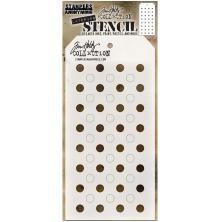 Tim Holtz Layered Stencil 4.125X8.5 - Shifter Dots