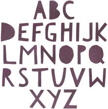 Tim Holtz Sizzix Thinlits Die Set 72/Pkg - Alphanumeric Cutout Upper