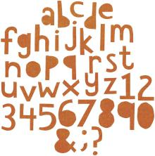 Tim Holtz Sizzix Thinlits Die Set 72/Pkg - Alphanumeric Cutout Lower