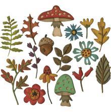 Tim Holtz Sizzix Thinlits Die set 20/Pkg - Funky Foliage