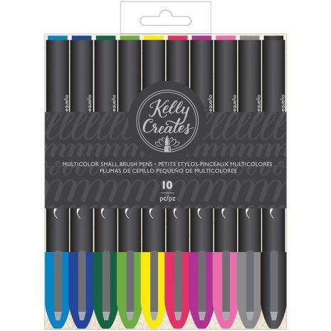 Kelly Creates Small Brush Pens 10/Pkg - Multicolor