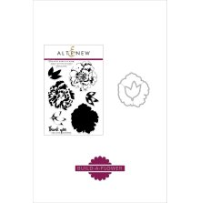 Altenew Clear Stamp And Die Build A flower - Camellia