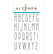 Altenew Clear Stamps 4X6 - Tall Alpha