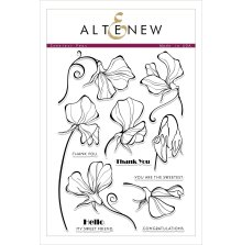Altenew Clear Stamps 6X8 - Sweetest Peas