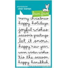 Lawn Fawn Clear Stamps 4X6 - Winter Scripty Sentiments