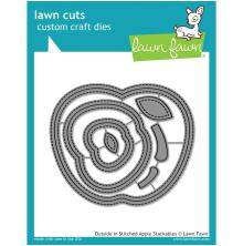 Lawn Fawn Custom Craft Stackables Dies - Outside In Stitched Apple