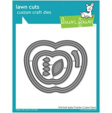 Lawn Fawn Custom Craft Die - Stitched Apple Frames