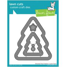 Lawn Fawn Custom Craft Die - Stitched Christmas Tree Frames