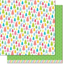 Lawn Fawn Really Rainbow Christmas Cardstock 12X12 - Pine Tree Green
