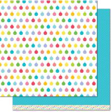 Lawn Fawn Really Rainbow Christmas Cardstock 12X12 - Icy Blue