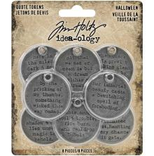 Tim holtz Idea-Ology Metal Quote Tokens 8/Pkg - Halloween