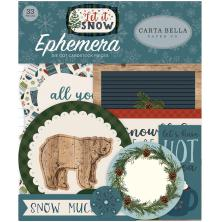 Carta Bella Let It Snow Ephemera Cardstock Die-Cuts 33/Pkg - Icons