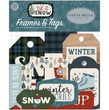 Carta Bella Let It Snow Ephemera Cardstock Die-Cuts 33/Pkg - Frames & Tags