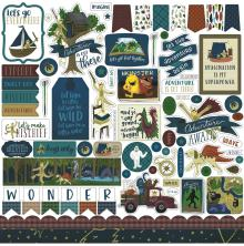 Echo Park Adventure Awaits Cardstock Stickers 12X12 - Elements