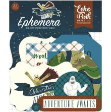 Echo Park Adventure Awaits Cardstock Die-Cuts 33/Pkg - Icons