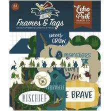 Echo Park Adventure Awaits Cardstock Die-Cuts 33/Pkg - Frames & Tags