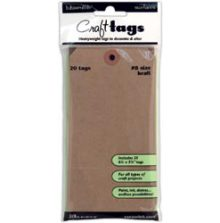 Inkssentials Brown Kraft Surfaces 20/Pkg Tag #8 6.25´X3.125´